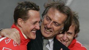 Schumacher y Montezemolo, en la etapa gloriosa de Ferrari