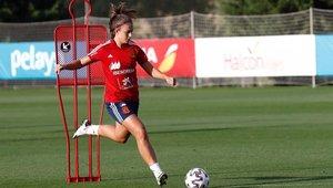 Alexia Putellas en un entreno de la Selección