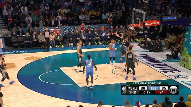 El All Star de la NBA es esto: un triplazo de Doncic se convierte en un mate estratosférico