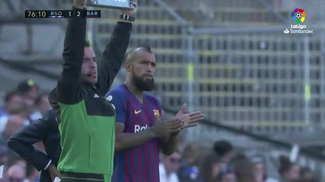 Arturo Vidal fue el único fichaje que jugó contra la Real Sociedad