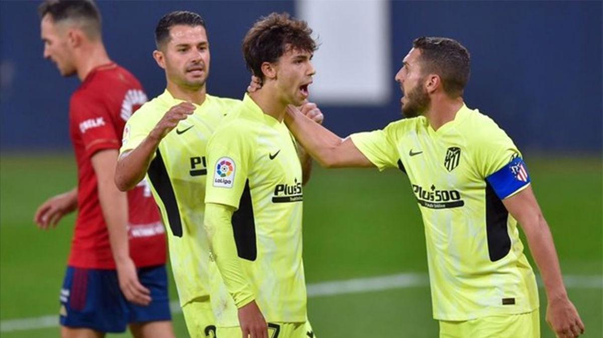 El Atlético fue mejor y se llevó la victoria de El Sadar