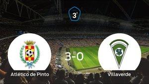 El Atlético de Pinto consigue los tres puntos en casa tras pasar por encima al Villaverde (3-0)