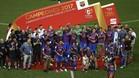 El FC Barcelona suma tres Copas del Rey consecutivas