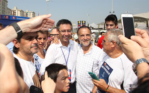 Bartomeu, durante la jornada electoral
