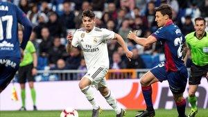 Brahim es una de las novedades en el once del Real Madrid ante el Getafe