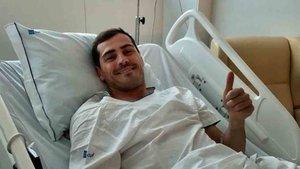 Casillas sigue mejorando de su infarto