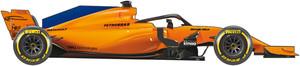 El coche de McLaren para el Mudnial de F1 de 2018