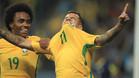 Coutinho y Willian durante el Mundial de Rusia 2018
