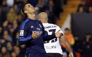 Cristiano acabó frustrado aquel duelo de Mestalla