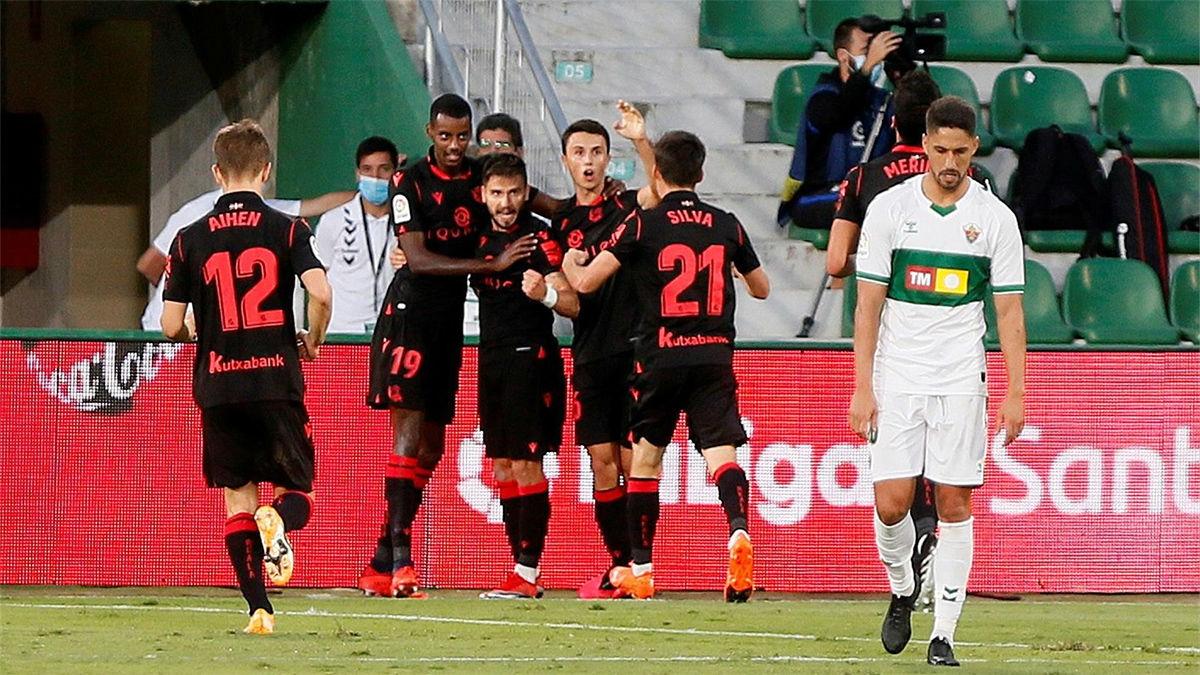 El Elche se estrena en LaLiga con derrota ante la Real Sociedad