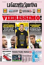 Esta es la portada de La Gazzetta dello Sport del domingo 16 de febrero
