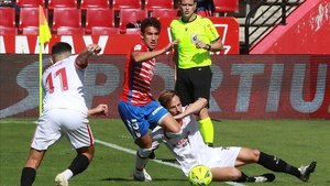El Granada se llevó los tres puntos ante el Sevilla