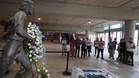 Homenaje a Dani Jarque en la puerta 21 del estadio