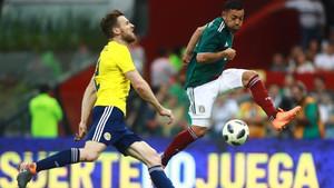 Imagen del duelo entre México y Escocia