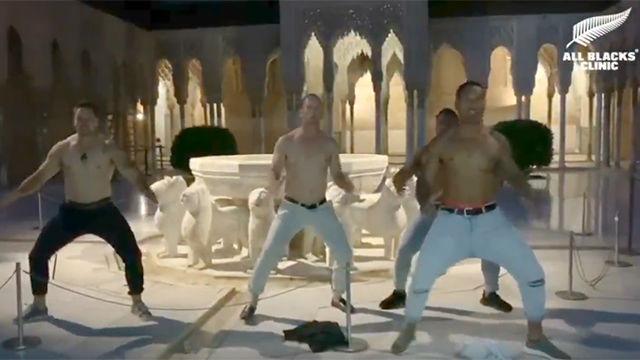 La increíble haka de los All Blacks en la Alhambra