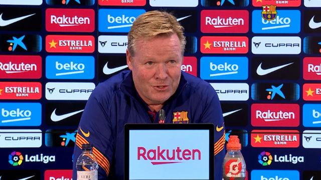 Koeman asume que no tendrá muchos días de tranquilidad en el banquillo del Barça