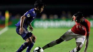 Kubo debutó en la Copa América ante Chile