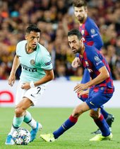 Las fotos del partido entre el FC. Barcelona y el Inter de Milán de Liga de Campeones, disputado en el Camp Nou en Barcelona.