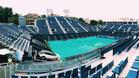 Las pistas están cubiertas con lonas en el RCT Barcelona