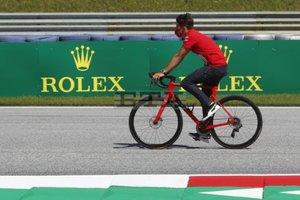 Leclerc, en la pista del Red Bull Ring