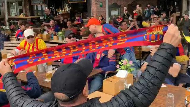 Los culés llenan Dortmund al son de Un dia de partit...