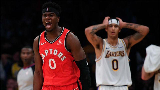 Los Raptors ponen fin a la racha de los Lakers pese a un brillante LeBron