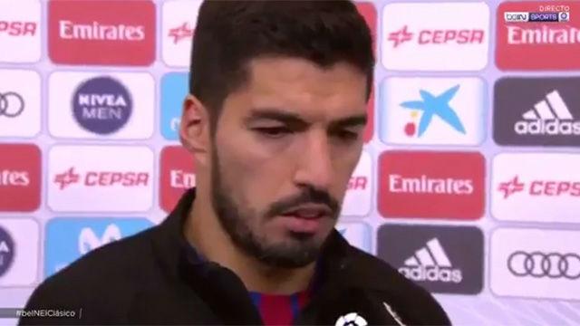 Luis Suárez habló tras marcar en el clásico