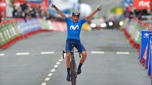 Marc Soler en su entrada a meta.