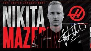 Mazepin , piloto de Haas F1 en 2021