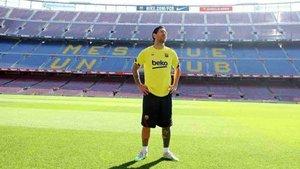 Messi ha vuelto a pisar el césped del Camp Nou