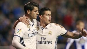 Morata y James podrían salir del Real Madrid