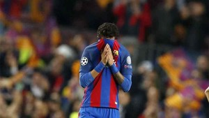 Neymar, llorando después del Barça - Juventus