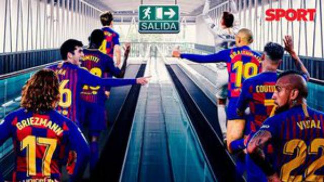 La operación salida en el Barça