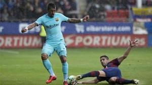 Paulinho fue titular ante el Eibar en la Liga española