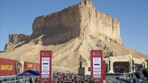 El podio final del primer Dakar en Arabia Saudí