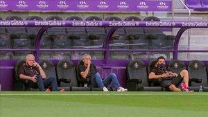 Quique Setién cambió el dibujo del Barça en Valladolid