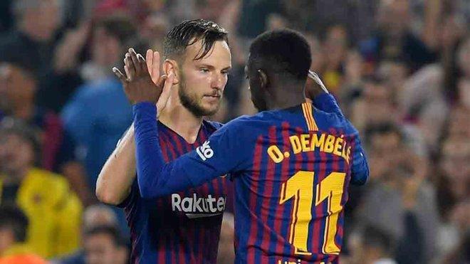 Los goles de Dembélé y de Rakitic, candidatos al mejor de la Champions