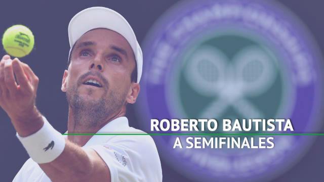Roberto Bautista jugará la semifinal de Wimbledon contra Djokovic