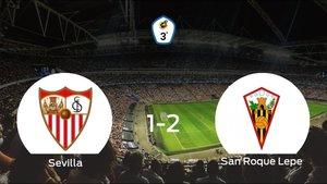 El San Roque Lepe se lleva tres puntos a casa tras vencer 1-2 al Sevilla C