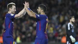 Suárez vuelve a celebrar goles en cada partido que juega