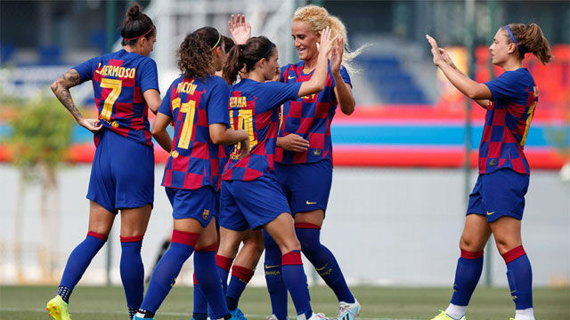 Tremenda goleada del Barça Femení al Marsella