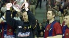 Urdangarin, con Barrufet en el Barça