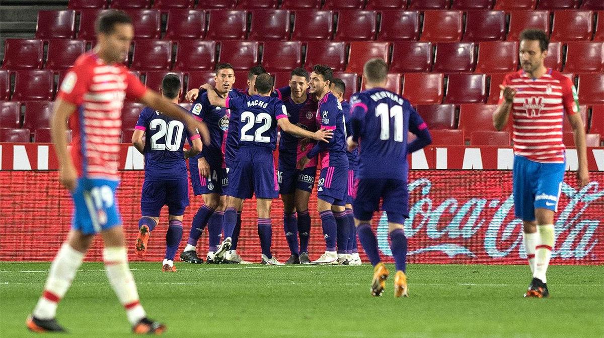 El Valladolid respira tras ganar al Granada