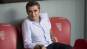Valverde no acabó satisfecho del juego del equipo en Bilbao