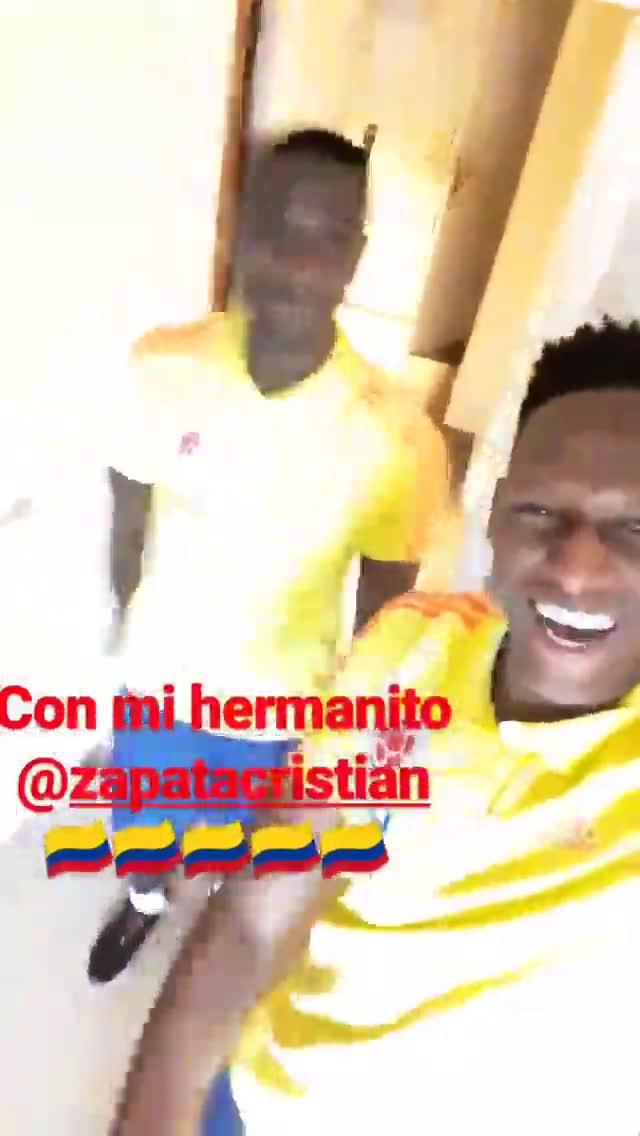 Yerry Mina y Cristian Zapata le ponen música a Colombia