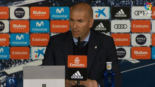 Zidane no encajó bien los elogios de Simeone