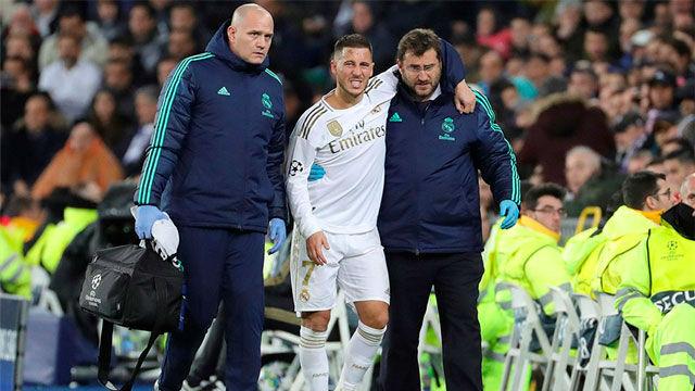 ¡Alarma en el Real Madrid! Hazard se retiró lesionado del terreno de juego