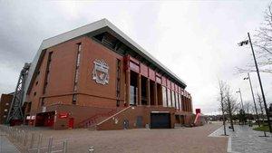 Anfield Road, estadio del Liverpool