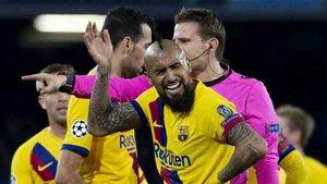 Arturo Vidal fue expulsado