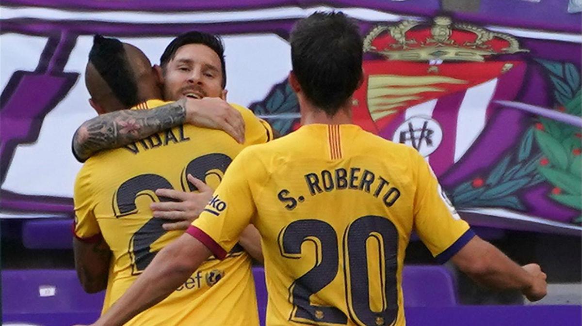 Arturo Vidal, el Rey del caos!, así narró la radio el 0-1 del Barça en Valladolid
